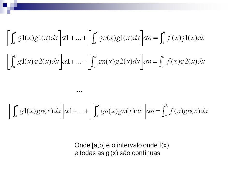 ... Onde [a,b] é o intervalo onde f(x) e todas as gi(x) são contínuas